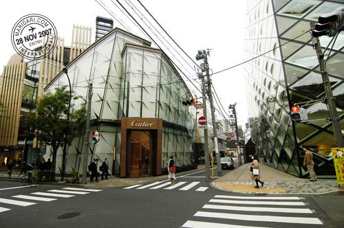 Cartier and Prada buildings at Omotesando