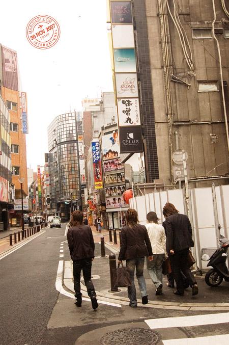 Male escort or hosts (hosuto) at Kabukicho area in Shinjuku, Tokyo