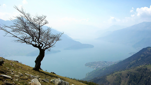 Lake Como, Italy, as seen from Montemezzo, photo by Natale Carioni