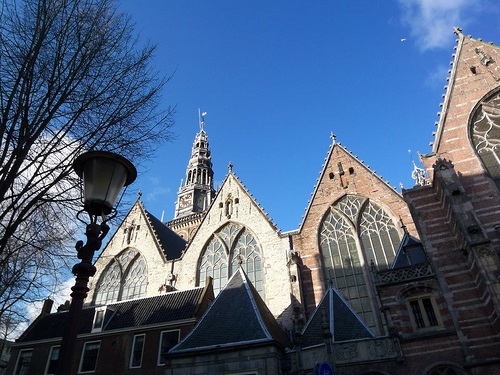 Oude Kerk (Old Church), Amsterdam, photo by Becky Houtman