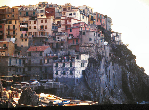 Manarola one of the villages of Cinque Terre on the Italian Riviera, photo by Peter Forster