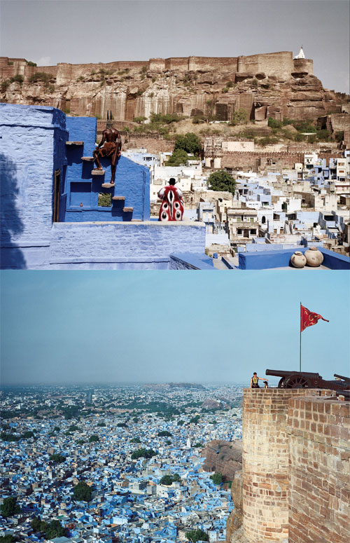Jodhpur, Rajasthan, also known as Sun City or the Blue City for indigo tinge of the houses around the Mehrangarh Fort