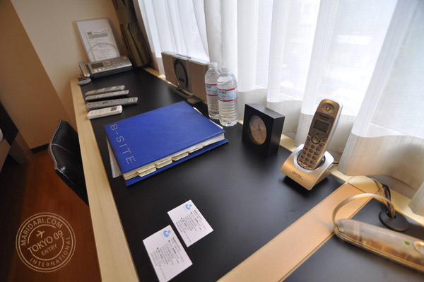 Review and images of B-SITE Akihabara Short Term Rental Apartment in Tokyo, Japan - the work desk