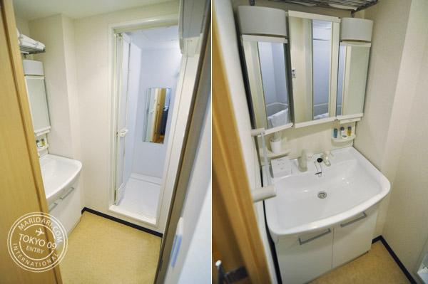 Apartment in Tokyo - B-SITE Akihabara. Nice clean bathroom. Vanity Area.