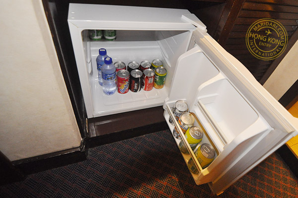 Evergreen Hotel Hong Kong in-room amenities - stocked mini bar
