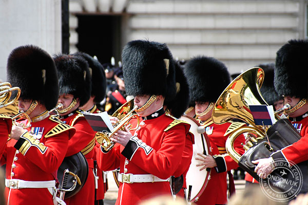 Buckingham Palace Changing of Guard Band, Spring in London