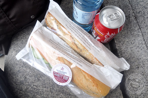 Cheap food in London, Uk - Pret a Manger sandwich shop sandwiches