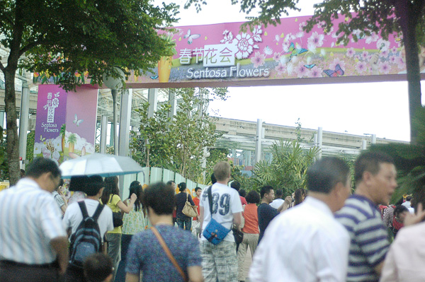 The Sentosa Flowers 2011 experience starts at the newly opened Sentosa Boarwalk